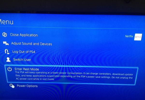 PS4 v 2.5 suspend mode