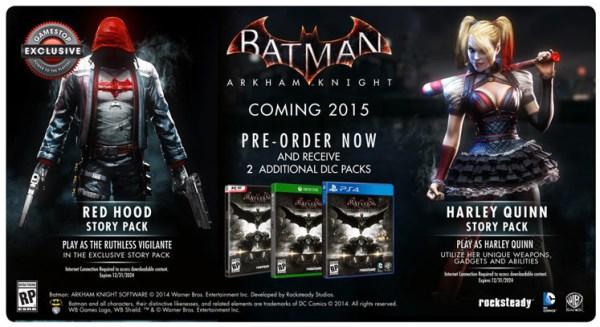 Arkham Knight pre order DLC