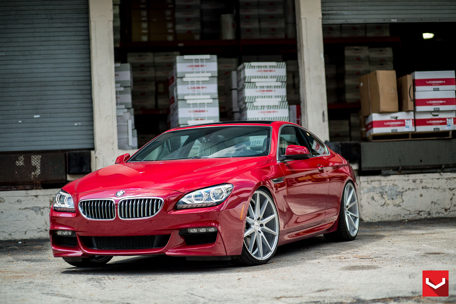Stunning Melbourne Red BMW 6 Series On Vossen Wheels