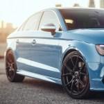 Gorgeous Riviera Blue Audi S3 With Vorsteiner Wheels