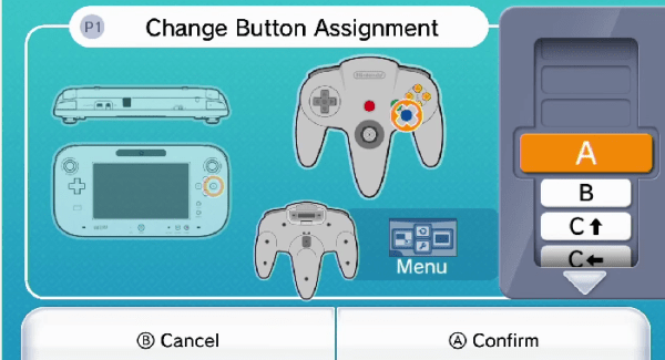 Wii U Virtual console Custom Mapping