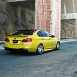 BMW F10 M5 With Vossen Wheels Installed