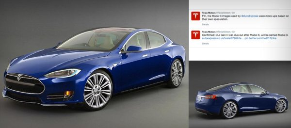 Artist rendering of Tesla Model 3. Rendering credit: Auto Express (UK)