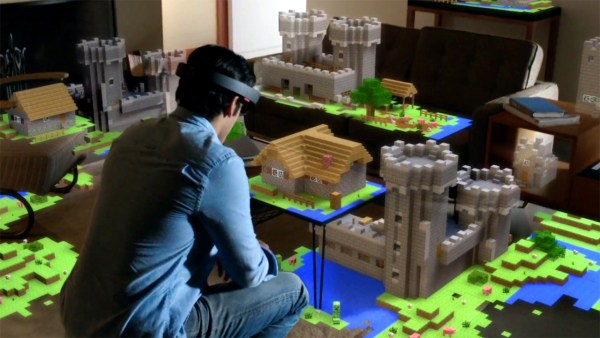 Playing Minecraft through Microsoft HoloLens will be an entirely new experience