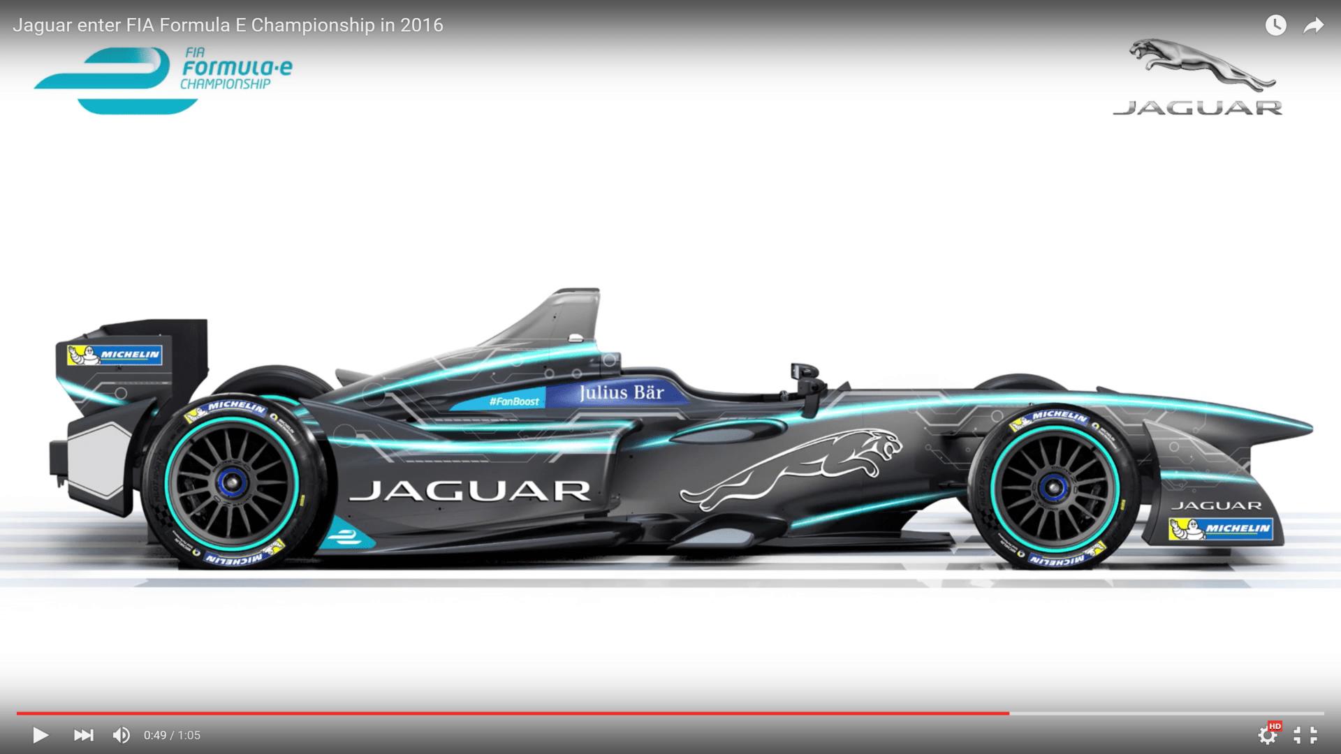 Jaguar Racing Formula E Concept Car.