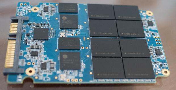 Mushkin 4TB SSD PCB. Photo Credit: Tech Report