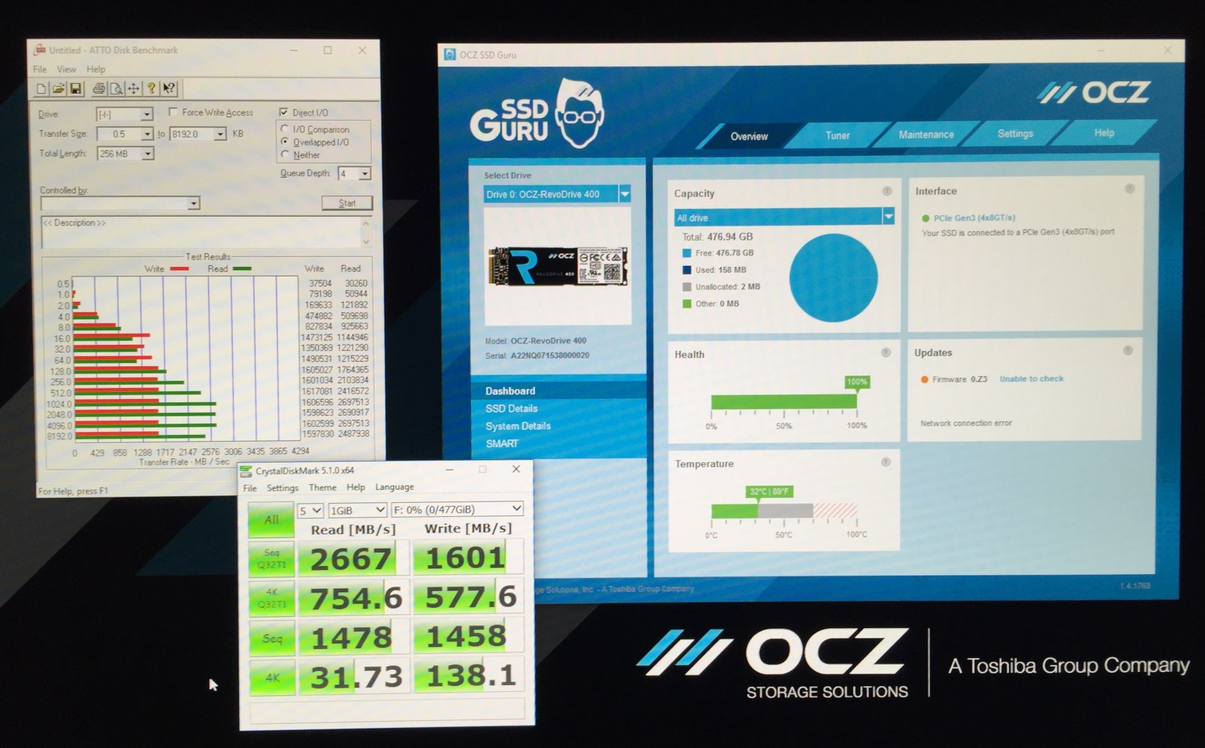 Initial RevoDrive 400 Benchmarks show a lot of promise.