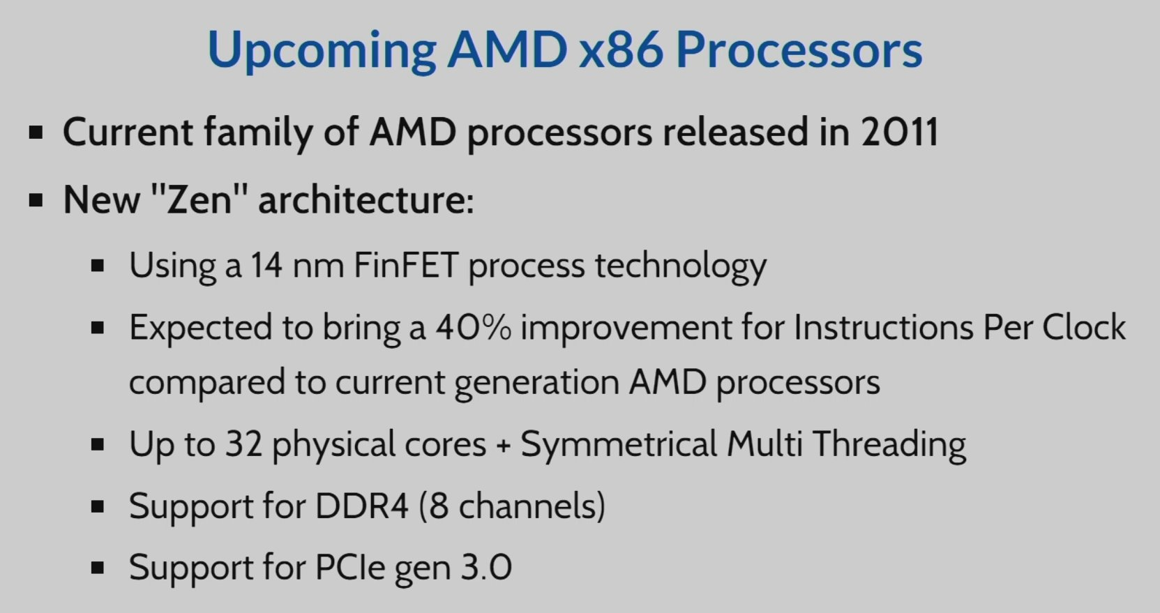 CERN is considering AMD's upcoming ZEN-based server processors for their computing needs.