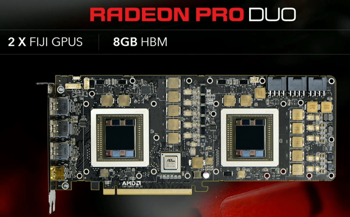 AMD Radeon Pro Duo PCB as shown on Capsaicin webstream.