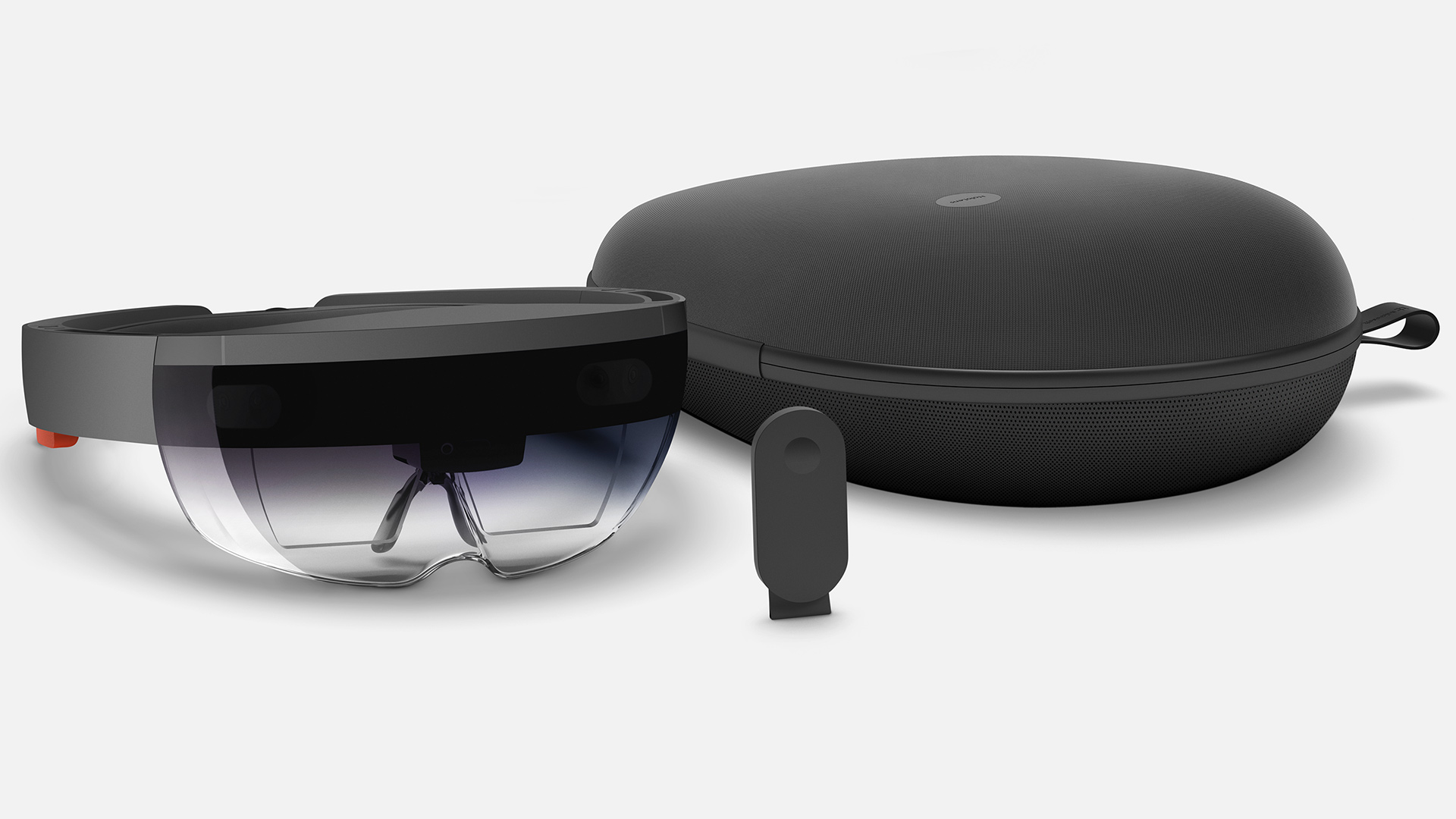 Microsoft HoloLens Development Edition Package: HoloLens headset, Clicker, and Box.