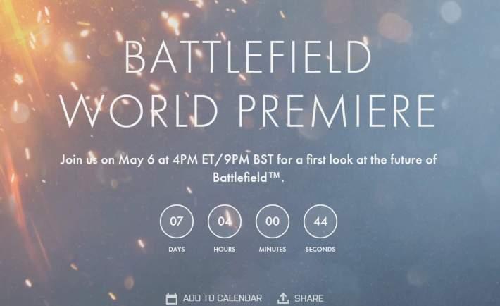 Battlefield V Premiere Landing Page