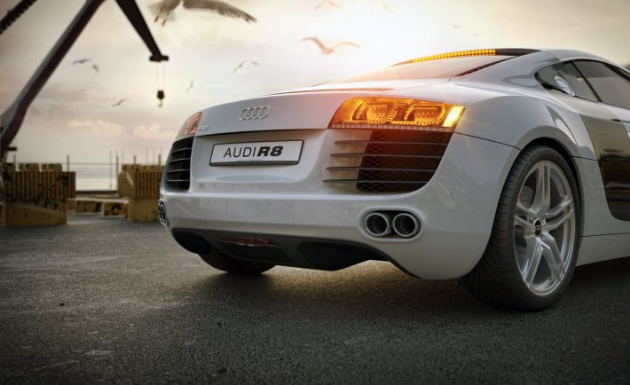 OTOY's OctaneRender of Audi R8. Credit: Jan Kudelasek