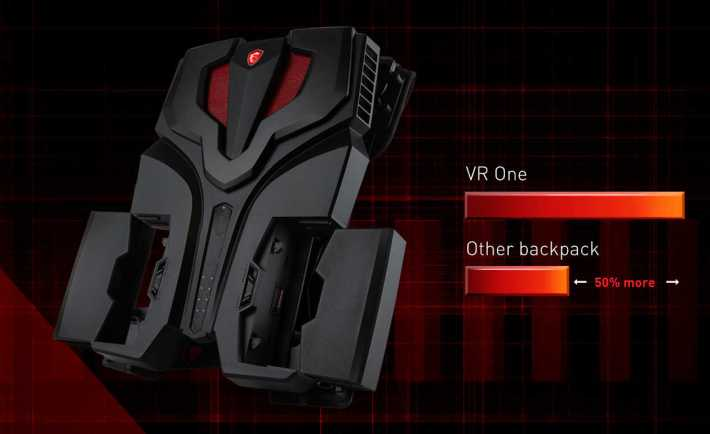 MSI VR One Battery Pack Performance