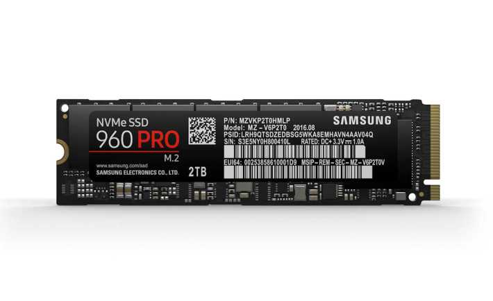 2TB Samsung 960 PRO NVMe SSD.  Samsung Electronics for VR World.
