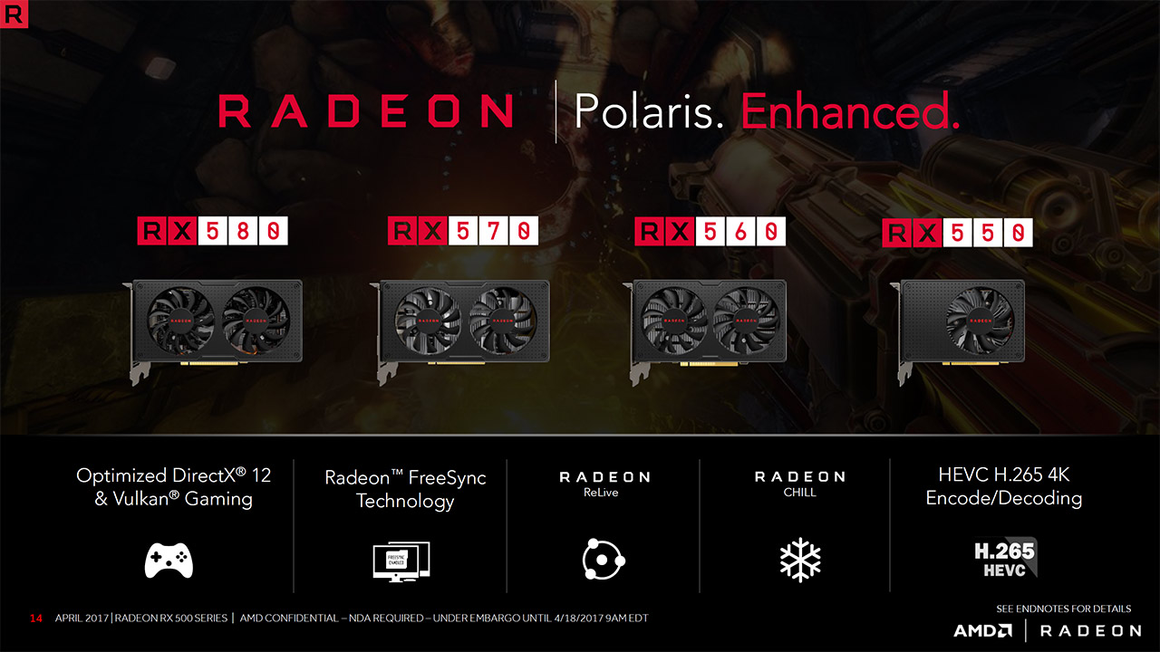 AMD Polaris Refresh - RX 500 Family