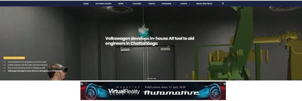 VRWorldTech homepage, under slider, banner