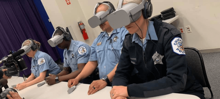 Axon develops VR training scenarios for police officer peer intervention