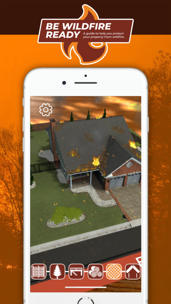 US insurance sector turns to AR to provide do-it-yourself wildfire mitigation tips - Screenshot