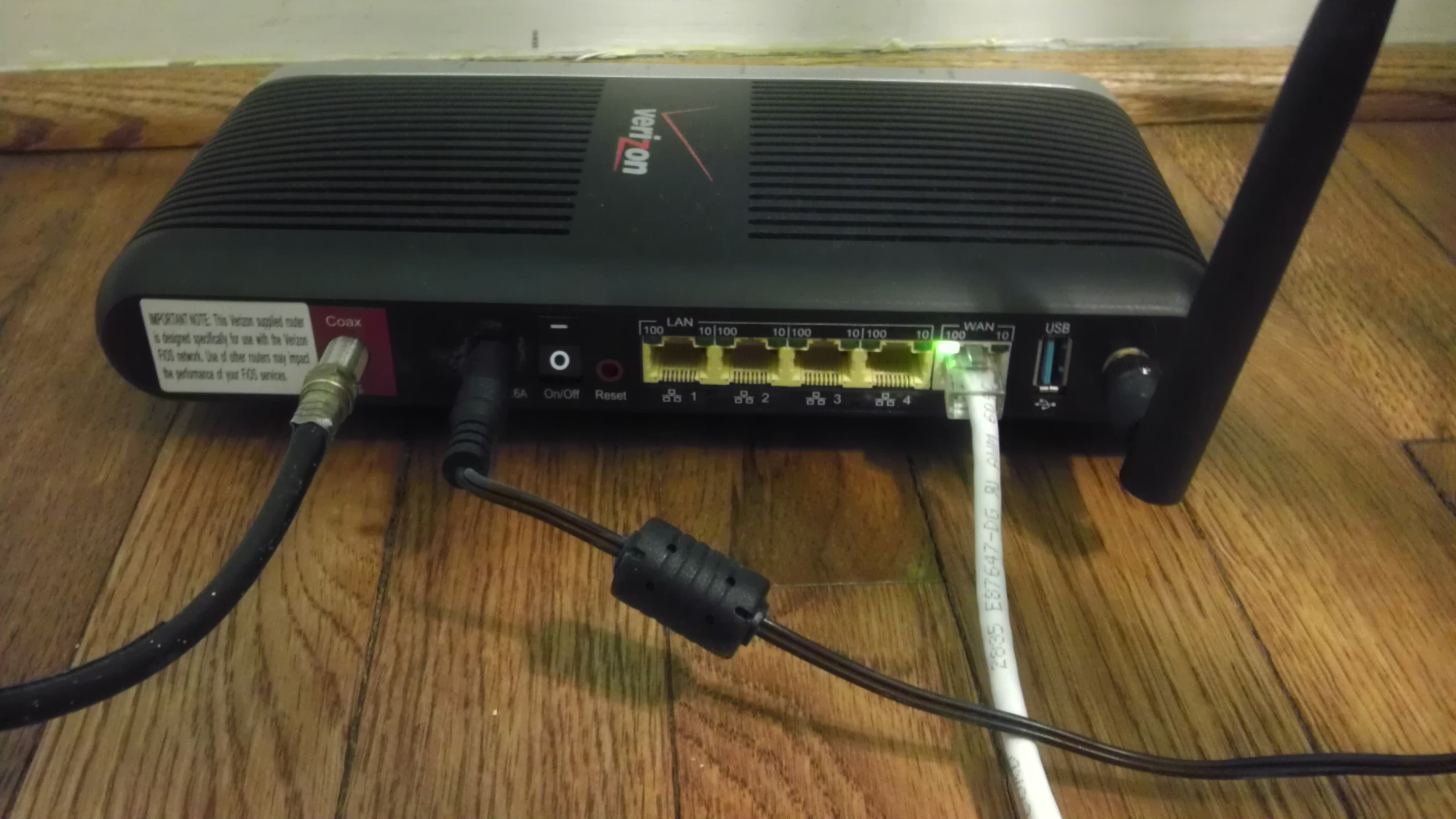 Solved: Verizon FIOS: Setting wiring cabi and FIOS router in separate rooms (new home