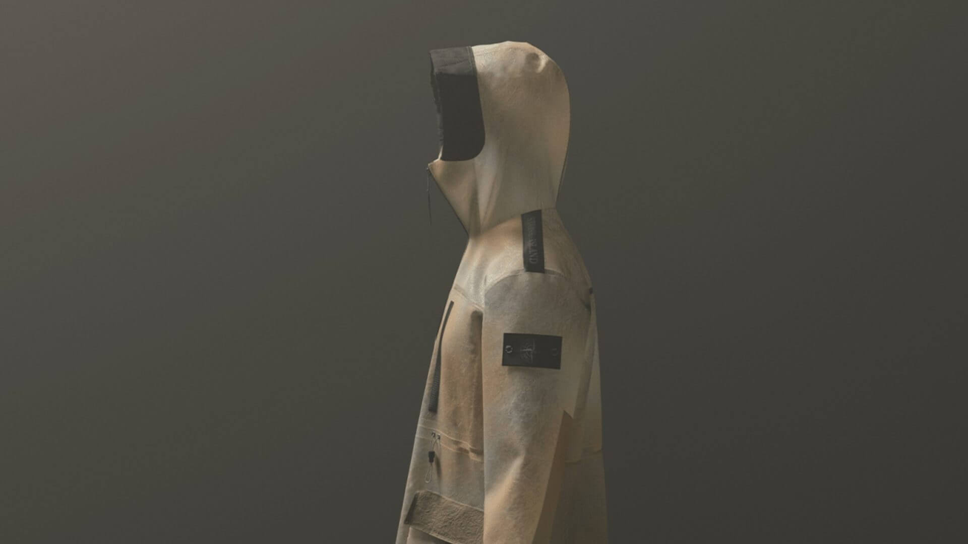 a 3d rendered stone island jacket