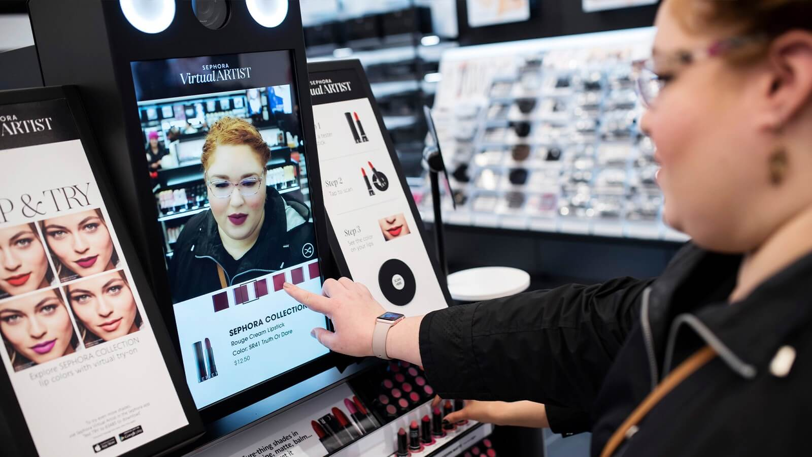 Sephora's augmented reality app for customers to use in-store