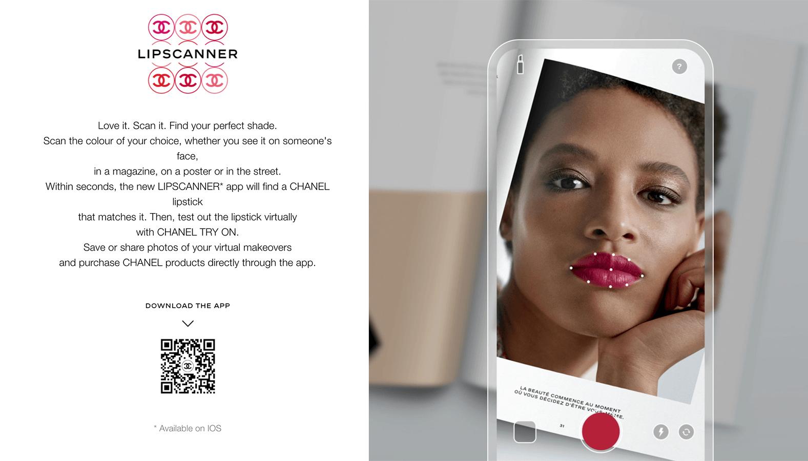 Chanel's lipstickscanner