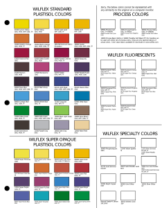 also wilflex standard plastisol colors process rh manualzilla