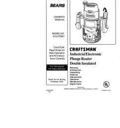 wiring diagram for craftsman router [ 791 x 1024 Pixel ]