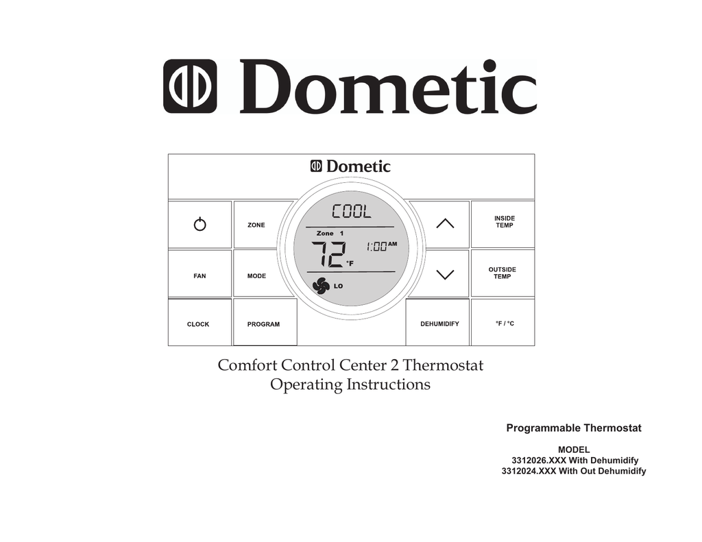 dometic ccc2 wiring diagram nema l6 30 comfort control center 2 manual e books 3312026 series operating instructionsdometic 10