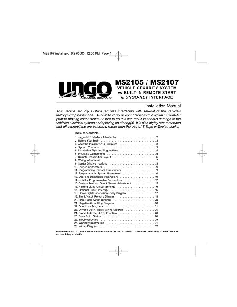 medium resolution of ungo car alarm wiring diagram