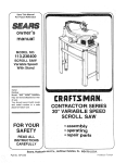 Craftsman 113.226431 Owner`s manual