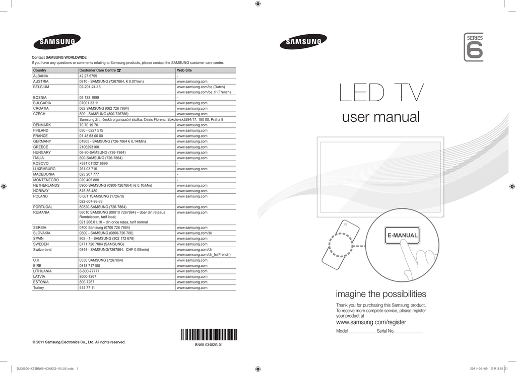 Samsung UE32D6515 User manual