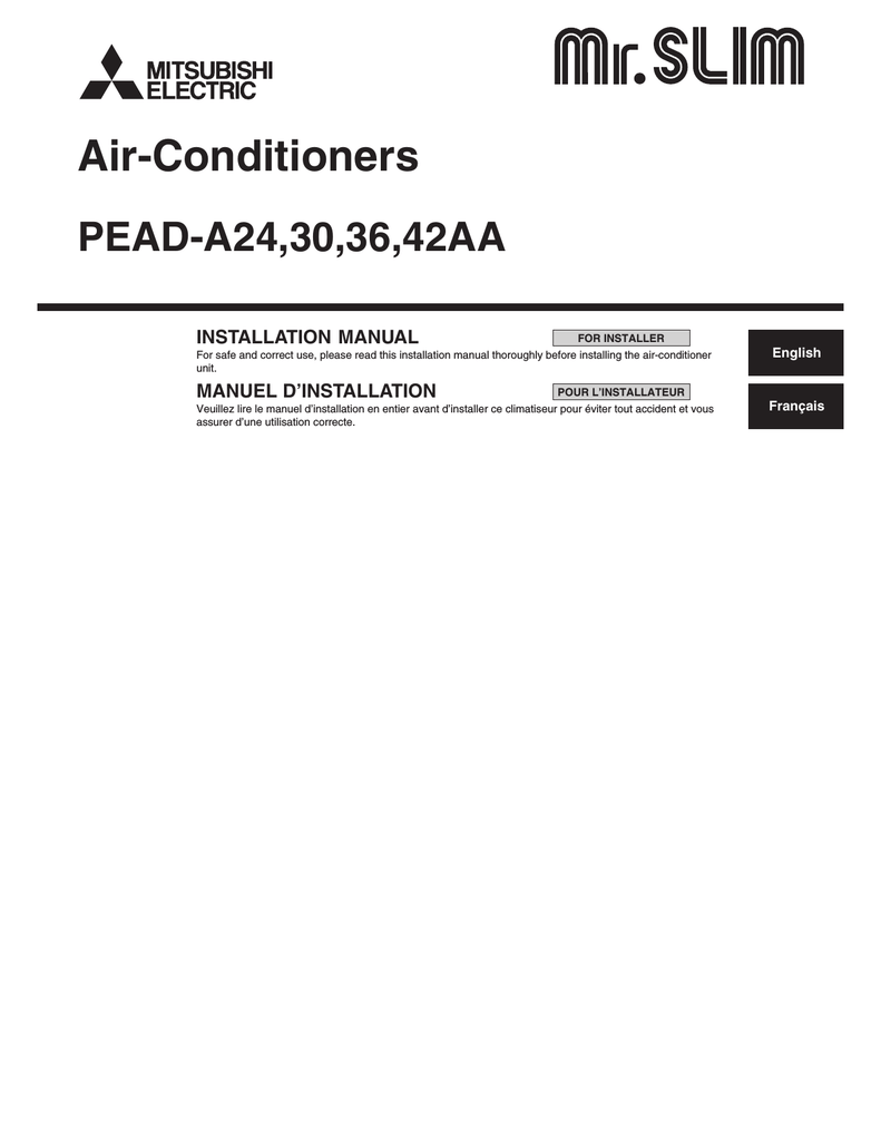 hight resolution of mitsubishi electric pead a24 installation manual rh manualzilla com midea mini split air conditioner wireing diagram midea mini split air conditioner
