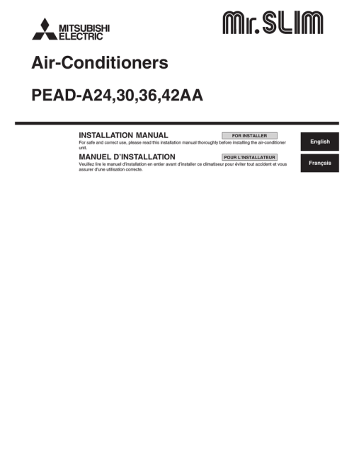 small resolution of mitsubishi electric pead a24 installation manual rh manualzilla com midea mini split air conditioner wireing diagram midea mini split air conditioner