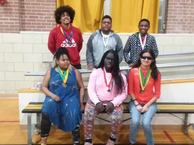 Six VSDB students with track medals