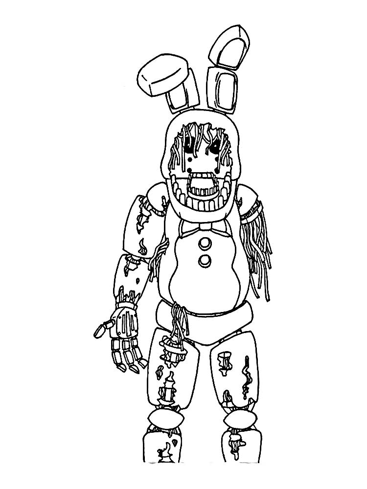 Spring Trap Five Nights Coloring Page Coloring Pages