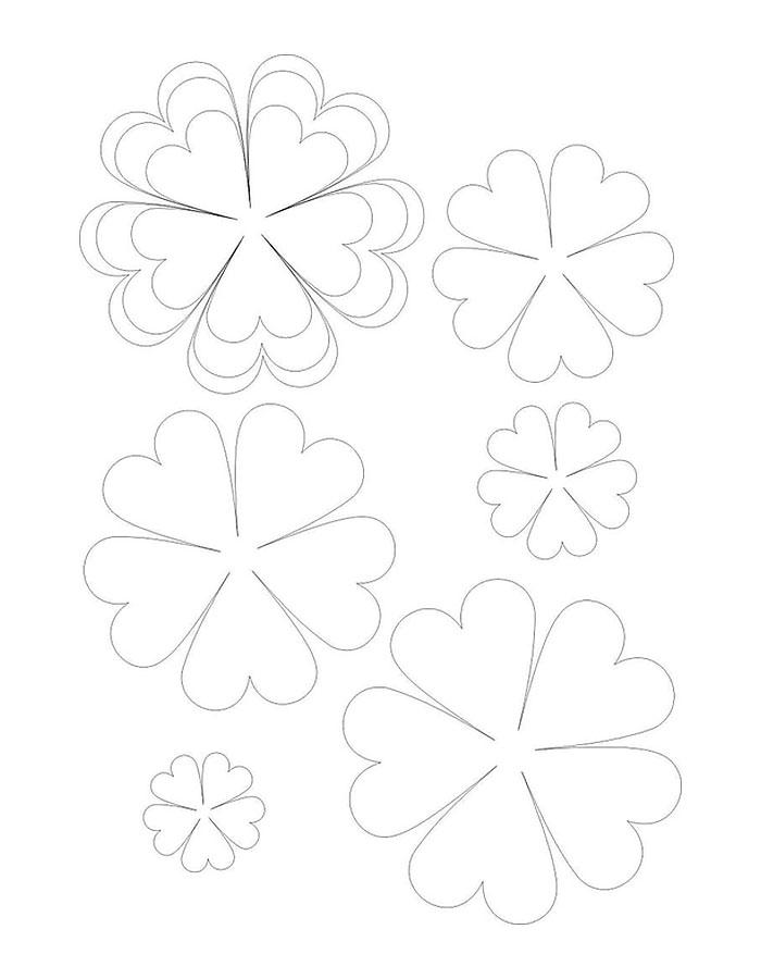Скачать Цветы для вырезания из бумаги