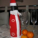 декор бутылки с шампанским