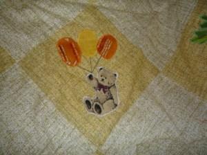 как украсить детское лоскутное одеяло