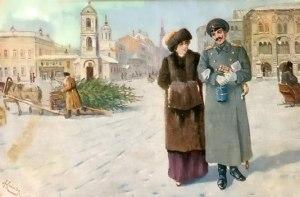 старинная рождественская открытка3