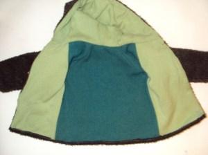 детская куртка вид изнутри