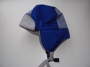 детская шапка-ушанка вид сбоку