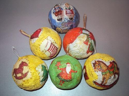 шары из папье-маше на елку