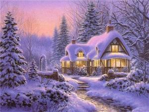рождественский зимний вечер