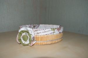 корзиночка для сладостей вид сбоку