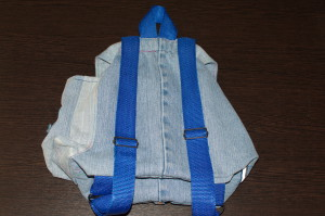 общий вид детского рюкзака сзади
