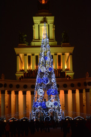 новогодняя елка на вднх