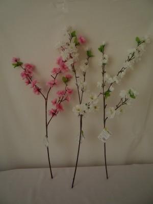 веточки искусственных цветов для пасхального дерева