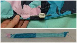 отстрачиваем кулиску на капюшоне теплой детской жилетки