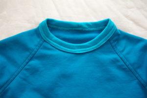 готовая горловина детской футболки